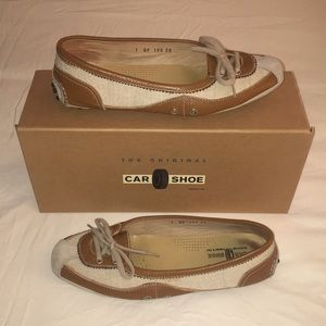 The Original Car Shoe Brown Leather Drivers 38